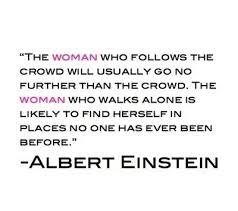 Einstein Walks Alone